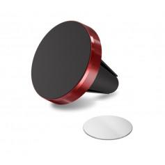 DrPhone A1 Pro - Magnetische Autohouder Ventilatierooster Houder Magneet Smartphone Houder + 1 3M Metalen Plaat - Rood