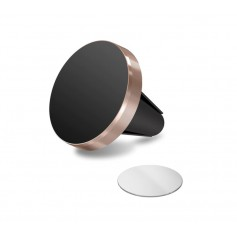 DrPhone A1 Pro - Magnetische Autohouder Ventilatierooster Houder Magneet Smartphone Houder + 1 3M Metalen Plaat - Rosegoud