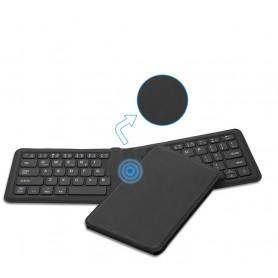 DrPhone W05 - Ergonomisch Draagbare Lederen Opvouwbare Mini Bluetooth Toetsenbord