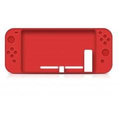 DrPhone Nintendo Switch Siliconen Case – Anti-Slip – Slim Design - Rood