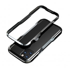 LUXWALLET® Incisive Sword + Glas - Aluminium Bumper iPhone 11 Pro 5.8 inch - A6061 Aluminium Frame Case - Zwart