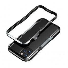 LUXWALLET® Incisive Sword + Glas - Aluminium Bumper iPhone 11 6.1 inch - A6061 Aluminium Frame Case - Zwart
