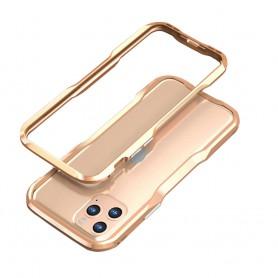 LUXWALLET® Incisive Sword + Glas - Aluminium Bumper iPhone 11 Pro MAX - A6061 Aluminium Frame Case - Goud