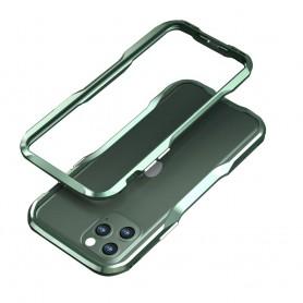 LUXWALLET® Incisive Sword + Glas - Aluminium Bumper iPhone 11 Pro MAX - A6061 Aluminium Frame Case - Donkergroen