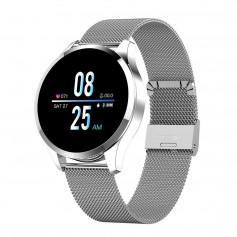 DrPhone - DQSport2 Smartwatch 1.3 Inch HD Display - Stappenteller - SportWatch - Notificaties - Actieve Hartslagmeter - Zilver