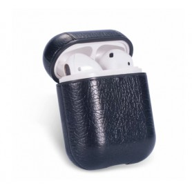 Drphone PL1 Case – Airpods 1 / Airpods 2 – Classic – Pu Leer – Hoogwaardige PU Lederen – Zwart