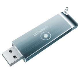 LUXWALLET - XPRO3 - USB 3.0 - 128GB Telescopisch Uitschuifbaar USB-Stick - High Speed Opslag - Grijs