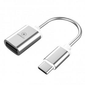 LUXWALLET - C5 - USB naar TYPE C - USB-C Kabel Adapter - Converter - Zilver