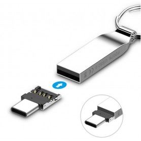 LUXWALLET O1 - OTG Adapter functie Zet normale USB in TYPE C flashdrive - Handig voor o.a. USB Sticks, Controllers