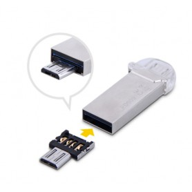 LUXWALLET O2 - OTG Micro USB Smartphone Adapter - Zet normale USB in Micro USB flashdrive - o.a USB Sticks, Controllers