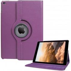 DrPhone Draaibare 360° PU Lederen Cover iPad Mini 4/5 Paars