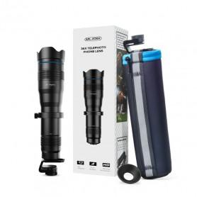 DrPhone APEX36 - Smartphone Zoom Lens + Tripod Statiefhouder – 36x inzoomen – HD – Professioneel gebruik – Zwart