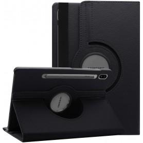 DrPhone Samsung Galaxy Tab S6 T860 / T865 Case - 360 graden draaibare beschermhoes met automatische slaapstand - Paars