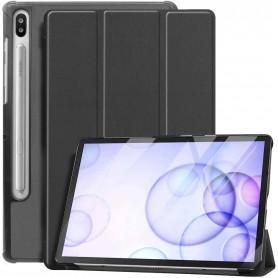 DrPhone Samsung Galaxy Tab S6 10.5 ( SM- T860/865) Smart Tri-Fold Case met Auto Sleep / Wake – Schok & Valbestendig - Zwart