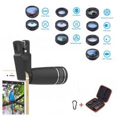 DrPhone Apex 10 – Lenskit – 10 in 1 – Telefoon Camera - Wide Angle Lens - Macro Lens - Fisheye Lens – Telephoto Lens – CPL