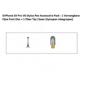 DrPhone SX Pro V6 Stylus Pen Accessoire Pack - 1 Vervangbare Fijne Punt Disc + 1 Fiber Tip ( Geen Styluspen inbegrepen)