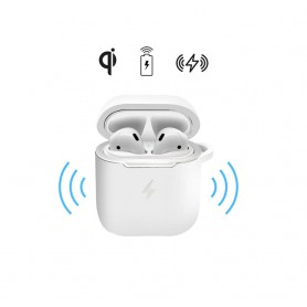 DrPhone PowerCase - Airpods Oplaadcase - Qi Lader - Airpods 1 / 2 - Draadloos Opladen - Wit