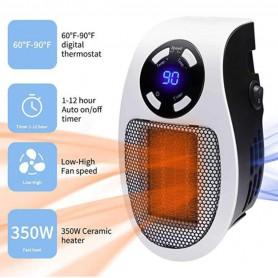 DrPhone HeatPro - 220V 500W Elektrische Kachel Voor Baby / Newborn - Ventilator Verwarming Radiator + Afstandsbediening