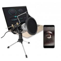 DrPhone PM2 – Professioneel USB Microfoon + Condensor –Tripod Standaard – Geschikt voor Android / iOs / PC – Zwart