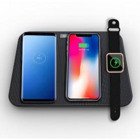 DrPhone 4in1 Multi Qi Oplader – Fast Charge – Mutlifunctioneel – Draadloos Opladen – Opvouwbaar – Zwart