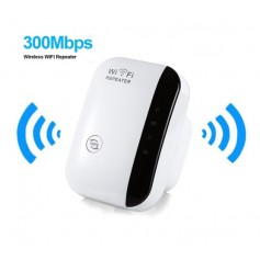DrPhone WR1 - Wifi Range Extender- 300mbps - 2.4Ghz - High Speed Repeater - Antenne Hotspot - Wit