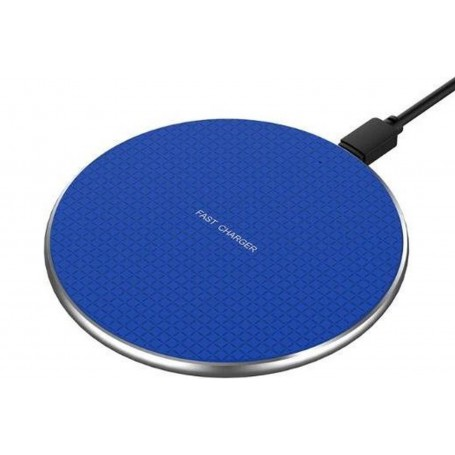 DrPhone – MK3 Qi Draadloos Snellader – Fast Charge Pad – Portable – 10w – Android/iOs – Blauw
