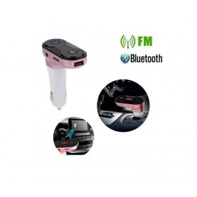 DrPhone FM8 – Bluetooth FM Speler Auto MP3 – Carkit Autolader – Micro SD + USB Stick - AUX 3.5mm – Handsfree Bellen – Rose Goud