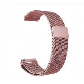 DrPhone Universele Magnetische Milanese Armband - 22mm - 46mm - RVS Horlogeband - Rosegold