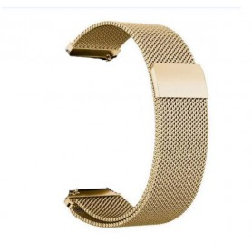 DrPhone Universele Magnetische Milanese Armband - 22mm - 46mm - RVS Horlogeband - Goud