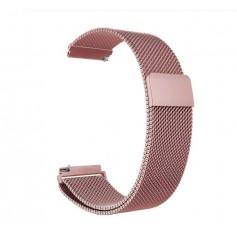 DrPhone Universele Magnetische Milanese Armband - 18mm - RVS Horlogeband - Rosegold