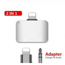 DrPhone LS03 Lighting Splitter – 2 in 1 Adapter – Audio Jack 3.5mm & Oplaad functie (Ondersteunt niet met bellen)