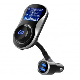 DrPhone BC11 – 4in1 Multifunctionele Autolader – Bluetooth – FM Transmitter – SD Kaart – USB – AUX – Zwart