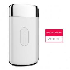 DrPhone PB1 - Smartphone Qi Draadloze Oplader + Power Bank 10000 mah - Powerbank Qi Lader met 2 USB poorten - Wit