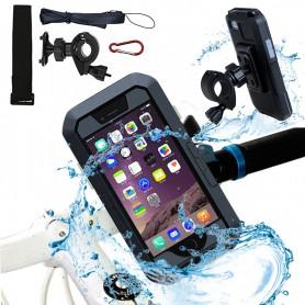 DrPhone iPhone 11 Extreem Stevige Premium Motorhouder / Fietshouder - 360 Graden - Waterdicht/Waterproof