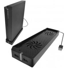 DrPhone NinjaSX2 - Xbox One X Koel Ventilator - 2 USB-poorten - Verticale Standaard Houder - Verbeteren levensduur - Zwart