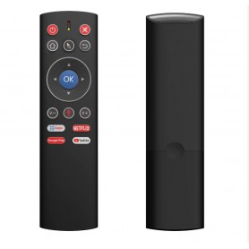 DrPhone MX2 Air Mouse Afstandbediening - Voice Remote Control - 2.4G Wireless – IR Functie - one-key toegang tot apps – Zwart