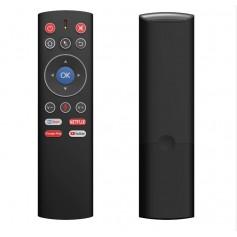 DrPhone MX2 Air Mouse Afstandbediening - Voice Remote Control - 2.4G Wireless – IR Functie - one-key toegang tot apps – Zwart