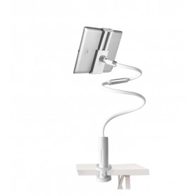 DrPhone 360° Universele tablet Armsteun houder Aluminium tot 12.3 inch - Flexibele tablet Houder - iPad Houder - Zilver