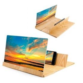 DrPhone Mega Screen WOOD - 3D Vergrootscherm Enlarged Screen Smartphones - Universeel