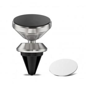 DrPhone A5 Flex – Universele Magnetische Air Vent Houder – 360graden draaibaar – Ventilatierooster houder – Zilver