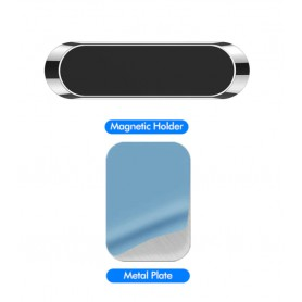DrPhone A7 Mini Magneet Strip – Magnetische Mobiele Telefoniehouder – Universeel – Zwart