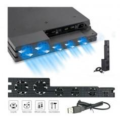 DrPhone - NinjaSX - PS4 Pro koel Ventilator - Intelligente Ventilatie Temperatuur Regeling – Langere levensduur PS4 Pro - Zwart