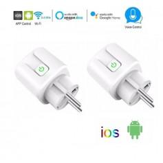 2x DrPhone VOICE® - Slimme Stekker- Schakelaar/Stopcontact - Smart Home - Spraakgestuurd bedienen - Google Home / Alexa - Wit