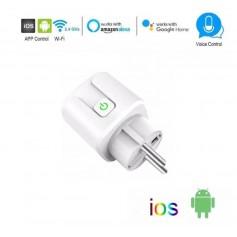 DrPhone VOICE® - Slimme Stekker- Schakelaar/Stopcontact - Smart Home - Spraakgestuurd bedienen - Google Home / Alexa - Wit