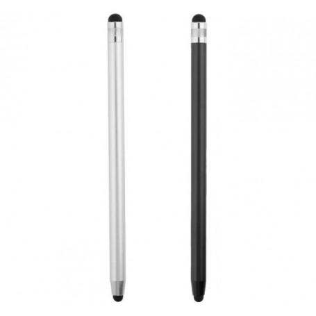 DrPhone SX V9 Metalen Stylus Pen - Dubbele Tips Capacitief Touchscreen – Universeel - Zilver
