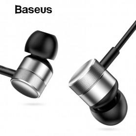 Baseus H04 HiFi Bedrade Oortelefoon met Aux 3.5mm interface - Bass Sound - In-ear sport-oortelefoon met microfoon - Zilver