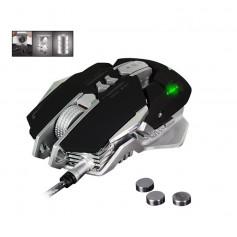 DrPhone Xero® Serie Gaming Muis – Professioneel 3200DPI Optical Programeerbaar Bedraad - Game Muis - LED - Zwart