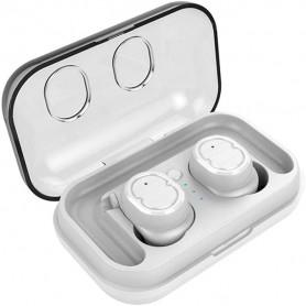 DrPhone GearX8 – Draadloze Earbuds met oplaadcase – Bluetooth 5.0 – IPX5 Waterdicht – Wit