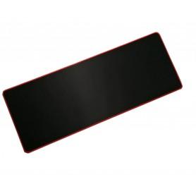 DrPhone Grote Gaming Muismat – 30cm x 60cm – Zwart met rode rand