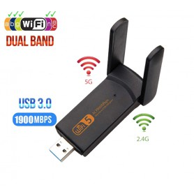 DrPhone W5 Pro® - Wifi Adapter - Dongle - Dual Band - AC 1900mbps - 100M Wireless Transmissie - Mac / Windows / Linux + Driver